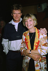 MR & MRS JOHNNY KIDD millionaire parents of model Jodie Kidd,  at a party in London on 24th September 1997.MBN 5