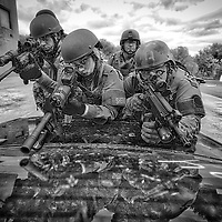 EDINA, MN- MAY 12:  Students at the annual SWAT Basic course train on vehicle assault tactics at the Southwest Metro Public Safety Training Facility in Edina, Minnesota on May 12, 2016. (Photo By: Adam Bettcher)