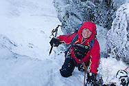 Chiz on an unnamed gully (winter grade 3?) at the back of Cwm Lechog, Snowdonia