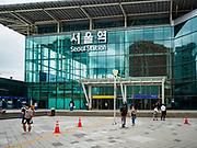 SEOUL, SOUTH KOREA: The main entrance to Seoul Station, the largest train station in South Korea.       PHOTO BY JACK KURTZ