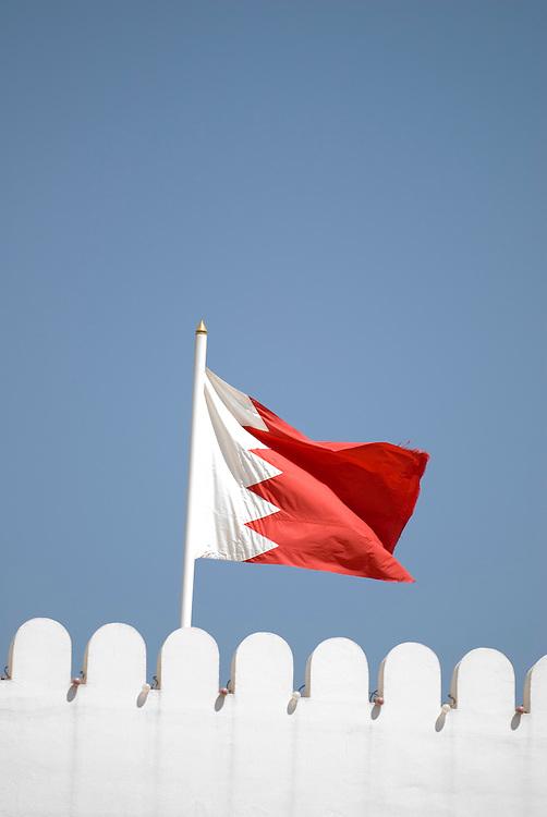 Bahrain - Manama city, national flag, Nationalfahne,