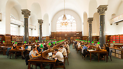 Study room at the State Library, Copenhagen, Denmark. 24/05/14. Photo by Andrew Tallon