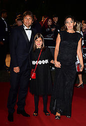 Antonio Conte with wife Elisabetta Muscarello and daughter Vittoria Conte attending the GQ Men of the Year Awards 2017 held at the Tate Modern, London.