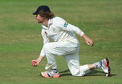 Hamish Marshall of Gloucestershire catches out Graeme White of Northamptonshire bowled by Benny Howell of Gloucestershire - Photo mandatory by-line: Dougie Allward/JMP - Mobile: 07966 386802 - 08/07/2015 - SPORT - Cricket - Cheltenham - Cheltenham College - LV=County Championship 2