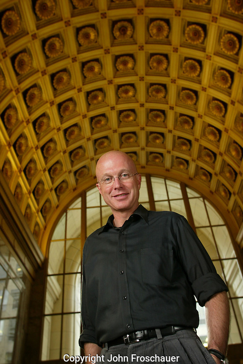 Steve Davis at the time Corbis CEO at the company Headquarters in Seattle. Client Mercury-News. (Photo/John Froschauer)