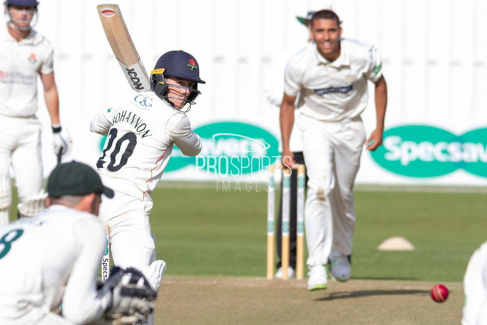 during the Specsavers County Champ Div 2 match between Leicestershire County Cricket Club and Lancashire County Cricket Club at the Fischer County Ground, Grace Road, Leicester, United Kingdom on 25 September 2019.