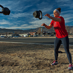 Quinn Megargel plays Kettlebell catch, Crossfit image, picture, photo, photography of health, elite, exercise, training, workouts, WODs, taken at Progressive Fitness CrossFit,Colorado Springs, Colorado, USA.