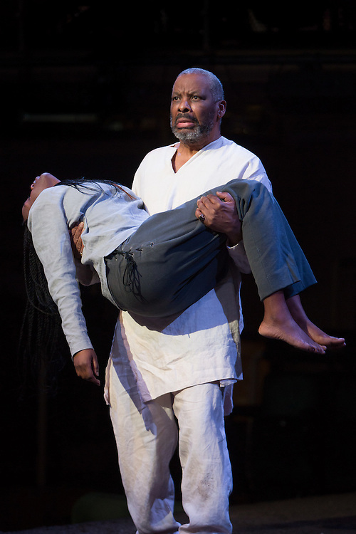 Royal Exchange Theatre production of King Lear by William Shakespeare, directed by Michael Buffong. With Don Warrington. Cast: Rakie Ayola, Fraser Ayres, Rhys Bevan, Norman Bowman, Thomas Coombes, Alfred Enoch, Sam Glen, Wil Johnson, Debbie Korley, Pepter Lunkuse, Miles Mitchell, Sarah Quist, Mark Springer, Don Warrington, Philip Whitchurch, Miltos Yerolemou.