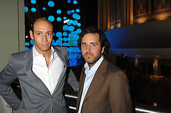 Left to right, ALEJANDRO PITASHNY and FRANCO FUBINI at the opening of the new Gaucho restaurant at the O2 Arena, London on 15th May 2008.<br />