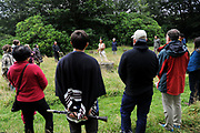 Machynlleth, Wales. 29th July, 2017. <br /> Nature ceremony on the morning of the second day of the festival.<br /> Photographer; Kevin Hayes