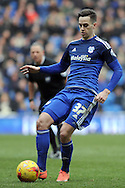 Cardiff City's Tom Lawrence in action. Skybet football league championship match, Cardiff city v Preston NE at the Cardiff city stadium in Cardiff, South Wales on Saturday 27th Feb 2016.<br /> pic by Carl Robertson, Andrew Orchard sports photography.