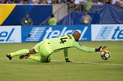 July 19, 2017 - Philadelphia, Pennsylvania, U.S - United States of America goalkeeper TIM HOWARD (24) makes a save during CONCACAF Gold Cup 2017 quarterfinal action at Lincoln Financial Field in Philadelphia, PA.  USA  defeats El Salvador 2 to 0. (Credit Image: © Mark Smith via ZUMA Wire)