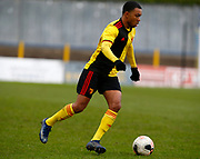 Kane Crichlow of Watford during under-23 professional development league match between Watford and Charleton Athletic at Charleton Athletic Park Stadium, Monday, Feb. 3, 2020, in St. Albans, United Kingdom. (Mitchell Gunn-ESPA Images/Image of Sport)