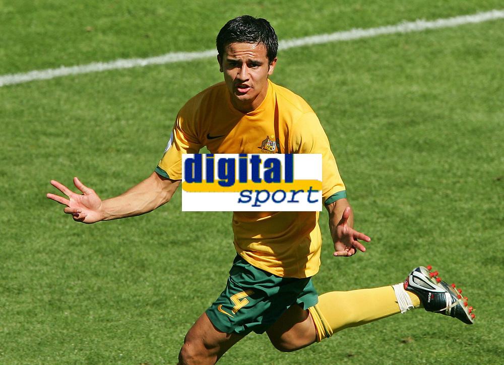Jubel Tim Cahill Australien 2:1<br /> Fussball WM 2006 Australien - Japan<br /> Fotball VM<br /> Australia<br /> Norway only