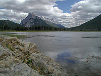 Vermillion Lakes,with view to Mount Rundle, Banff National park, Alberta, Canada   Photo: Peter Llewellyn