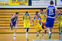 Sebic milan of KK Tajfun Sentjur and Blazevic Anel of KK Sencur GGD during basketball match between KK Sencur  GGD and KK Tajfun Sentjur for Spar cup 2016, on 16th of February , 2016 in Sencur, Sencur Sports hall, Slovenia. Photo by Grega Valancic / Sportida.com
