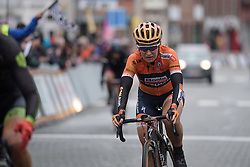 Amy Pieters has to settle for second place at the 112.8 km Le Samyn des Dames on March 1st 2017, from Quaregnon to Dour, Belgium. (Photo by Sean Robinson/Velofocus)
