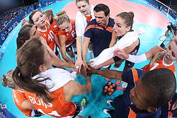 20150619 AZE: 1ste European Games Baku Servie - Nederland, Bakoe<br /> Nederland verslaat Servie met 3-2 /Time out Coach Giovanni Guidetti, Myrthe schoot