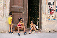 Kids playing on the street, Havana, Cuba 2020 from Santiago to Havana, and in between.  Santiago, Baracoa, Guantanamo, Holguin, Las Tunas, Camaguey, Santi Spiritus, Trinidad, Santa Clara, Cienfuegos, Matanzas, Havana