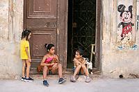 Kids playing on the street, Havana, Cuba 2020 from Santiago to Havana, and in between.  Santiago, Baracoa, Guantanamo, Holguin, Las Tunas, Camaguey, Santi Spiritus, Trinidad, Santa Clara, Cienfuegos, Matanzas, Havana