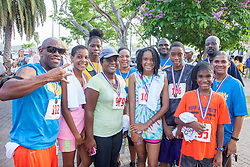 Members of the Living Hope Cathedral compete in Sundays event.  Virgin Islanders gear up for the 2-mile Virgin Islands Walk/Run Against Gun Violence along the Charlotte Amalie Waterfront.   Proceeds from the event go to benefit the Jason Carroll Memorial Fund for college scholarships.  St. Thomas, VI.  22 May 2016.  © Aisha-Zakiya Boyd