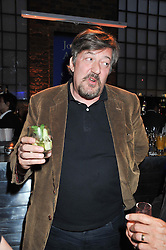 STEPHEN FRY at a party to celebrate the publication of Joseph Anton by Sir Salman Rushdie held at The Collection, 264 Brompton Road, London SW3 on 14th September 2012.