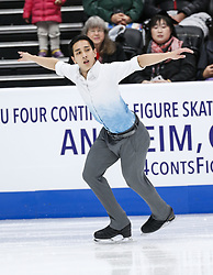 February 7, 2019 - Los Angeles, California, U.S - Julian Zhi Jie Yee of Malaysia competes in the Men Short Program during the ISU Four Continents Figure Skating Championship at the Honda Center in Anaheim, California on February 7, 2019. (Credit Image: © Ringo Chiu/ZUMA Wire)
