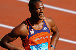 Gregory Sedoc NED in action during Olympics Games Athletics day 12 on August 24, 2004 in Olympic Stadion Spyridon Louis, Athens.