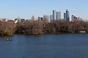 Austin City Skyline seen over the Lady Bird Lake