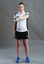 Umpire Natalie Gregan signalling ordering off
