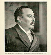 The Right Hon. Louis Botha, Prime Minister Of The Transvaal From the Book '  Britain across the seas : Africa : a history and description of the British Empire in Africa ' by Johnston, Harry Hamilton, Sir, 1858-1927 Published in 1910 in London by National Society's Depository