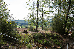 Wendover, UK. 16th June, 2021. An area of ancient woodland at Jones Hill Wood in Buckinghamshire cleared of trees and vegetation for the HS2 high-speed rail link is pictured from an area that will remain. Jones Hill Wood qualifies as lowland mixed deciduous woodland, a habitat of principal importance, and contains resting places and/or breeding sites for pipistrelle, barbastelle, noctule, brown long-eared and natterer's bats.