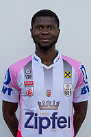 Download von www.picturedesk.com am 16.08.2019 (13:58). <br /> PASCHING, AUSTRIA - JULY 16: Yusuf Otubanjo of LASK during the team photo shooting - LASK at TGW Arena on July 16, 2019 in Pasching, Austria.190716_SEPA_19_007 - 20190716_PD12485