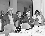 Y-700605A-05  Emanuel Hospital, Model Citys Committee luncheon. June 5, 1970. Neighborhood opposes hospital expansion plans.