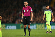 Referee Andre Marriner looking on. Premier League match, Crystal Palace v Liverpool at Selhurst Park in London on Saturday 29th October 2016.<br /> pic by John Patrick Fletcher, Andrew Orchard sports photography.