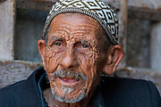 Headshot of a mature Arab man. Photographed in the Old City Jerusalem