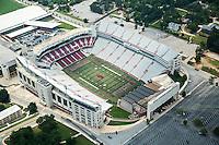 Donald W. Reynolds Razorback Stadium aerial on the campus of the University of Arkansas