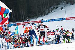 Mario Dolder (SUI), Tarjei Boe (NOR) during the Mixed Relay 2x 6 km / 2x 7,5 km at day 3 of IBU Biathlon World Cup 2019/20 Pokljuka, on January 23, 2020 in Rudno polje, Pokljuka, Pokljuka, Slovenia. Photo by Peter Podobnik / Sportida
