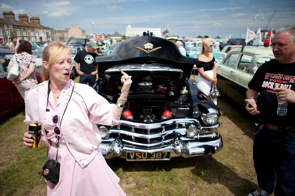 """""""Its proper massive, innit?!""""<br /> A Teddy Girl checks out the Caddy."""