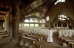 April 11, 2006 - U.S. - Bishop Victor Chikwe at Maria Mater Ecclesiae Cathedral in Mbaise, Nigeria. The cathedral, started in 1998, opened as soon as the roof was finished, even though the building is not. (Michael Wirtz/Philadelphia Inquirer/KRT) (Credit Image: © Michael Wirtz/TNS/ZUMAPRESS.com)