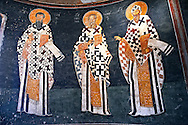 The 11th century Roman Byzantine Church of the Holy Saviour in Chora and its Anastasis fresco of the parecclesion chapel Endowed between 1315-1321 by the powerful Byzantine statesman and humanist  Theodore Metochites. Kariye Museum  Istanbul .<br /> <br /> If you prefer to buy from our ALAMY PHOTO LIBRARY  Collection visit : https://www.alamy.com/portfolio/paul-williams-funkystock/holy-saviour-chora-istanbul.html<br /> <br /> Visit our TURKEY PHOTO COLLECTIONS for more photos to download or buy as wall art prints https://funkystock.photoshelter.com/gallery-collection/3f-Pictures-of-Turkey-Turkey-Photos-Images-Fotos/C0000U.hJWkZxAbg
