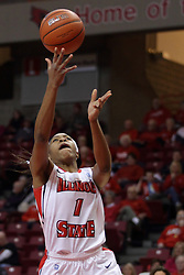 04 January 2015:  Colleene Smith during an NCAA MVC (Missouri Valley Conference) women's basketball game between the Southern Illinois Salukis and the Illinois Sate Redbirds at Redbird Arena in Normal IL