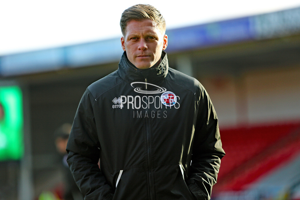 Dannie Bulman arrives before the EFL Sky Bet League 2 match between Walsall and Crawley Town at the Banks's Stadium, Walsall, England on 18 January 2020.