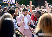 ESPN's SEC Nation takes over the Commons Lawn at Vanderbilt University as the Commodores prepare to take on Alabama in Nashville on Saturday, Sept. 23, 2017. Laura Rutledge hosts the network's pregame show, joined by analysts Tim Tebow, Marcus Spears and Paul Finebaum, along with reporter Lauren Sisler.