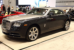 12 February 2015: Rolls Royce Wraith. <br /> <br /> First staged in 1901, the Chicago Auto Show is the largest auto show in North America and has been held more times than any other auto exposition on the continent. The 2015 show marks the 107th edition of the Chicago Auto Show. It has been  presented by the Chicago Automobile Trade Association (CATA) since 1935.  It is held at McCormick Place, Chicago Illinois
