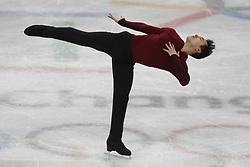 February 17, 2018 - Pyeongchang, KOREA - Patrick Chan of Canada competing in the men's figure skating free skate program during the Pyeongchang 2018 Olympic Winter Games at Gangneung Ice Arena. (Credit Image: © David McIntyre via ZUMA Wire)