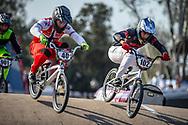 #40 (NAVRESTAD Tore) NOR and #102 (BRIZUELA Matias Jesus) ARG during practice at Round 9 of the 2019 UCI BMX Supercross World Cup in Santiago del Estero, Argentina