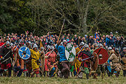 The Saxons give chase - English Heritage's annual re-enactment of the Battle of Hastings marks the 950th anniversary of the Battle in 1066. The event includes a Cavalry encampment, Norman & Saxon encampments and Medieval traders. It takes place at Battle Abbey on October 15th and 16th.