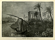 Hypaethral Temple at Philae Commonly known as Pharaoh's Bed Wood engraving from 'Picturesque Palestine, Sinai and Egypt' by Wilson, Charles William, Sir, 1836-1905; Lane-Poole, Stanley, 1854-1931 Volume 4. Published in 1884 by J. S. Virtue and Co, London