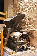 Old destemmer crusher. Scala Dei, Priorato, Catalonia, Spain